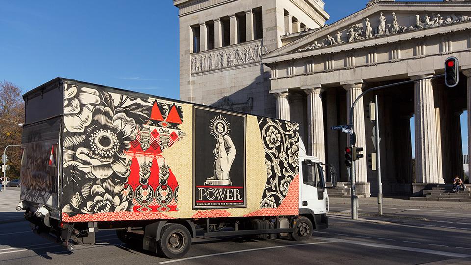Street-Art München / Shepard Fairey aka Obey Giant